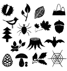 Forest doodle images vector