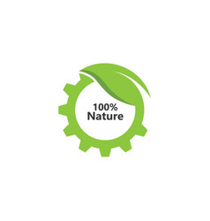 Gear leaf 100 nature icon design vector