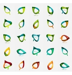 Geometric leaf collection vector image