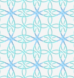 Geometrical pattern with lace ornament and blue vector