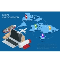 Global logistics Global logistics network vector