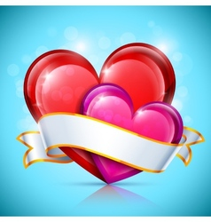 Glossy Heart Icons vector image vector image