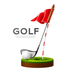 golf tournament poster club and ball vector image