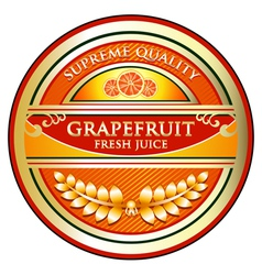 Grapefruit Juice Label vector image