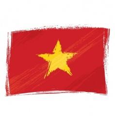 Grunge Vietnam flag vector