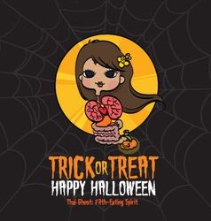 Halloween Trick or Treat Thai Ghost vector image