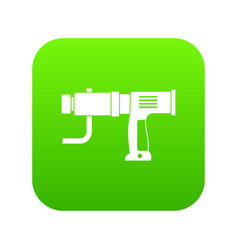 hand drill icon digital green vector image