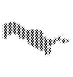 Hex-tile uzbekistan map vector