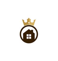 home king logo icon design vector image