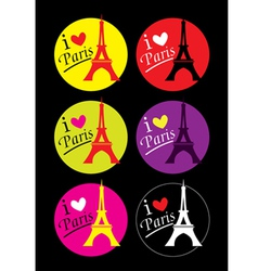 I love Paris sticker vector