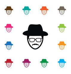 isolated detective icon investigator vector image