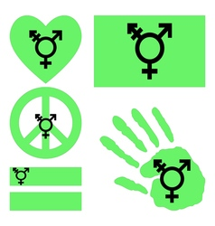 Israeli transgender and genderqueer pride design vector