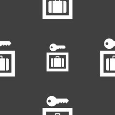 Luggage Storage icon sign Seamless pattern on a vector image