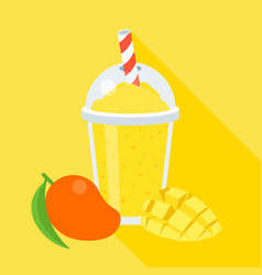 Mango smoothie vector