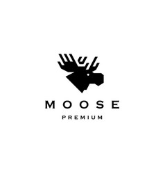 Moose head logo icon vector