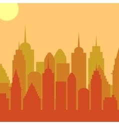 Morningt cityscape background city vector