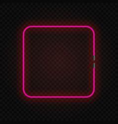 neon frame vector image