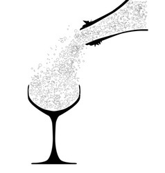 Pouring Champagne vector
