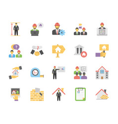 Real estate icons collection in flat design vector