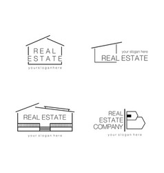 real estate logo design modern and minimalist vector image