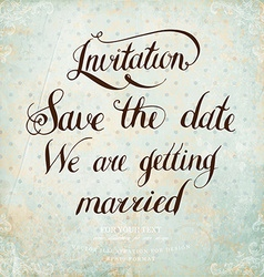 Retro Save The Date Card vector image