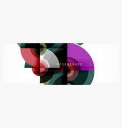 Round shapes abstract background trendy vector