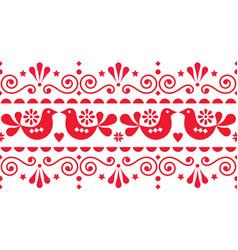 scandi style textile design or frame background vector image