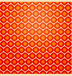 seamless geometric pattern in retro red colors vector image
