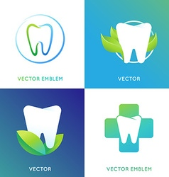 set of logo design template in bright gradient vector image
