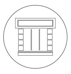 Shopfront icon black color in circle vector