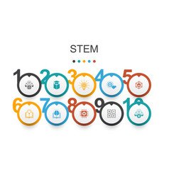 Stem infographic design template science vector