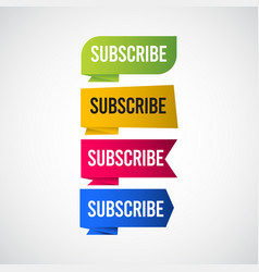 Subscribe tag label template design vector