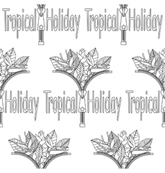 Tropical Holiday seamless pattern vector