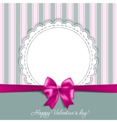 Valentines card with a bow vector image