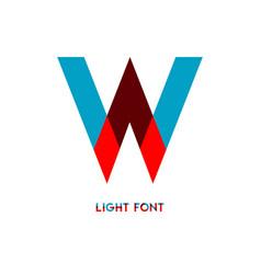 W light font template design vector