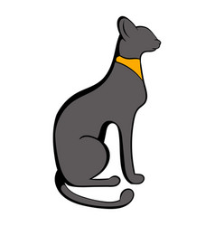 egyptian cat icon cartoon vector image