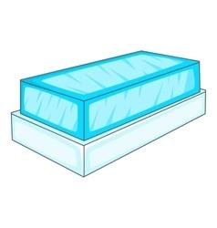 Glass showcase icon cartoon style vector image