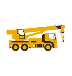 icon truck crane construction machinery vector image