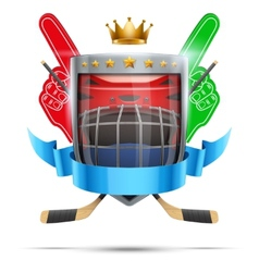 Label for ice hockey sport competition Bright vector image vector image