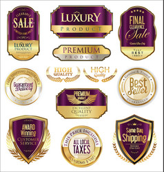 Luxury retro badge and labels collection 5 vector