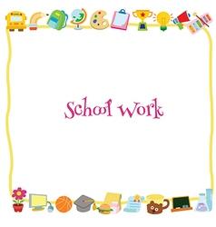 School work template vector image vector image