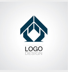 triangle house business logo vector image vector image