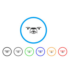 eye spy drone rounded icon vector image vector image