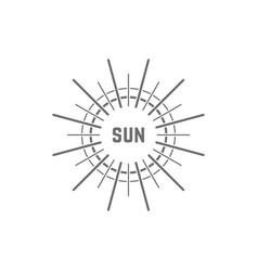 linear simple gray sun logo vector image vector image