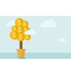 Money plant on a pot vector image