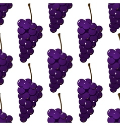 Seamless pattern of bunches of purple grapes vector image vector image