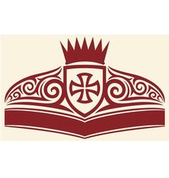 tattoo cross symbol vector image