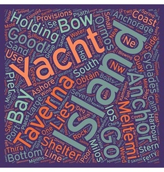 Yacht Charter in the Southern Cyclades text vector image