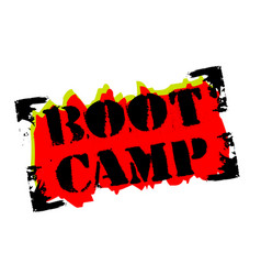 boot camp sticker vector image