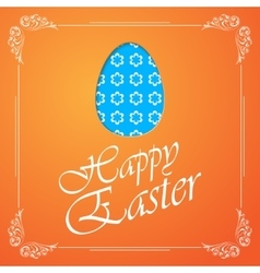 Easter egg silhouette with flowers vector image vector image